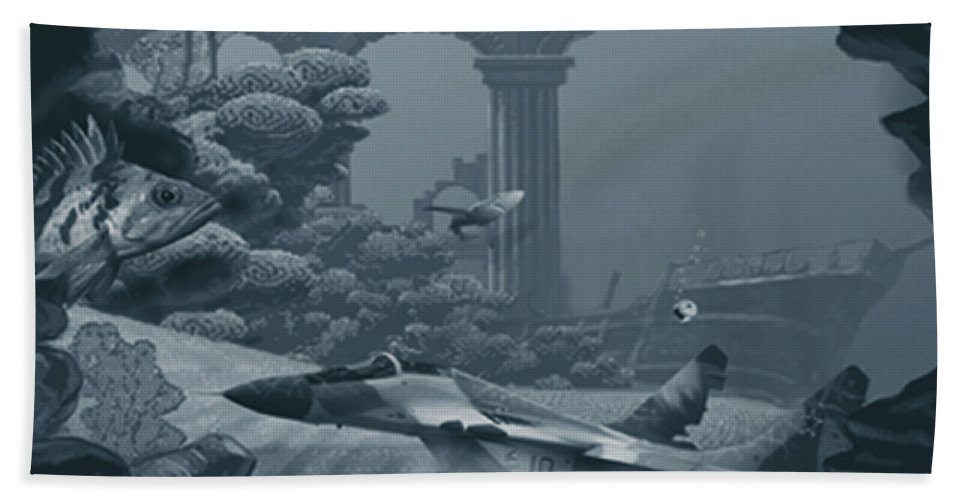 Canvas Prints Beach Towel featuring the digital art Empire's End by Joseph Juvenal