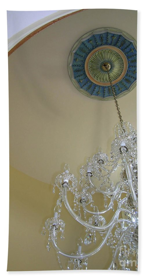 Chandelier Beach Towel featuring the painting Entry Chandalier Medallion by Lizi Beard-Ward