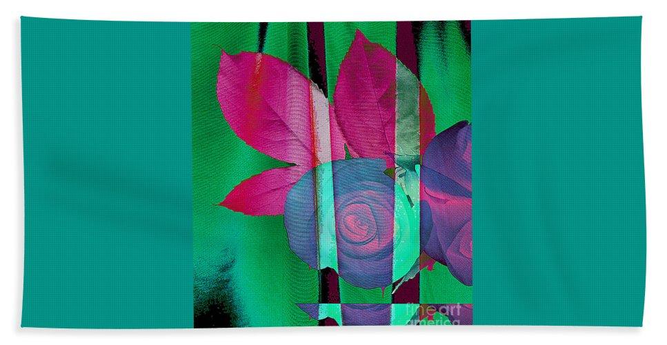 Digital Art Image Beach Towel featuring the digital art Exotic by Yael VanGruber