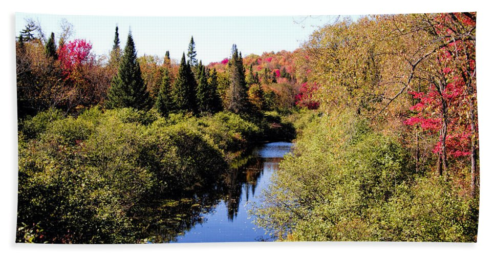 Adirondack Park.adirondack Park Ny Beach Towel featuring the photograph Fall Colors by George Fredericks