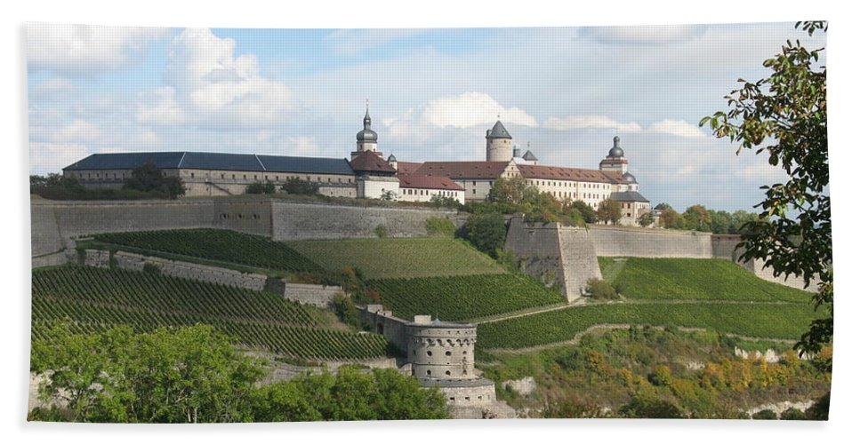 Fort Beach Towel featuring the photograph Fortress Marienberg - Wuerzburg - Germany by Christiane Schulze Art And Photography