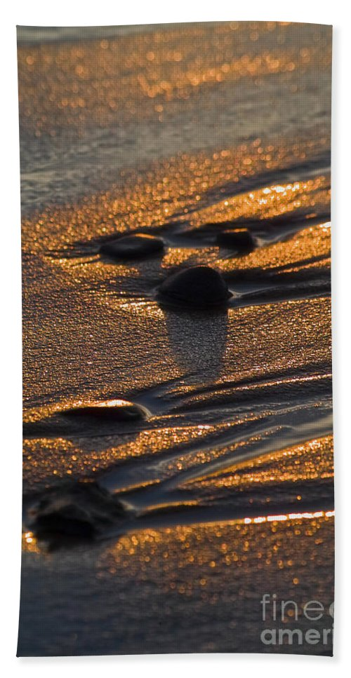 Beach Beach Towel featuring the photograph Golden Sand by Heiko Koehrer-Wagner