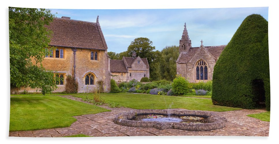 Great Chalfield Manor Beach Towel featuring the photograph Great Chalfield Manor by Joana Kruse
