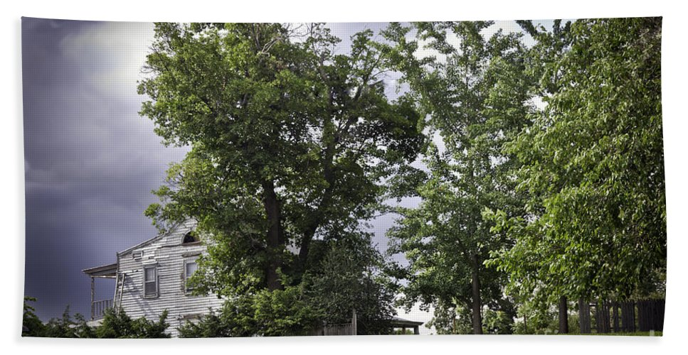 House Beach Towel featuring the photograph House On The Hill 3 by Madeline Ellis