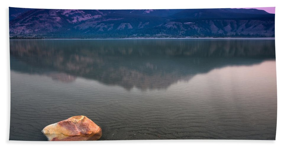 Landscape Beach Towel featuring the photograph Jasper Lake Sunrise by Cale Best