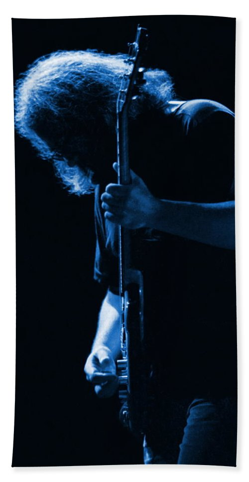 Jerry Garcia Beach Towel featuring the photograph Jerry Blue Sillow by Ben Upham