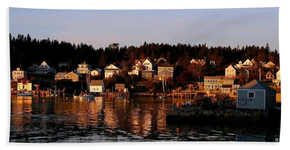 Boats Beach Towel featuring the photograph Looking East by Laura Mace Rand