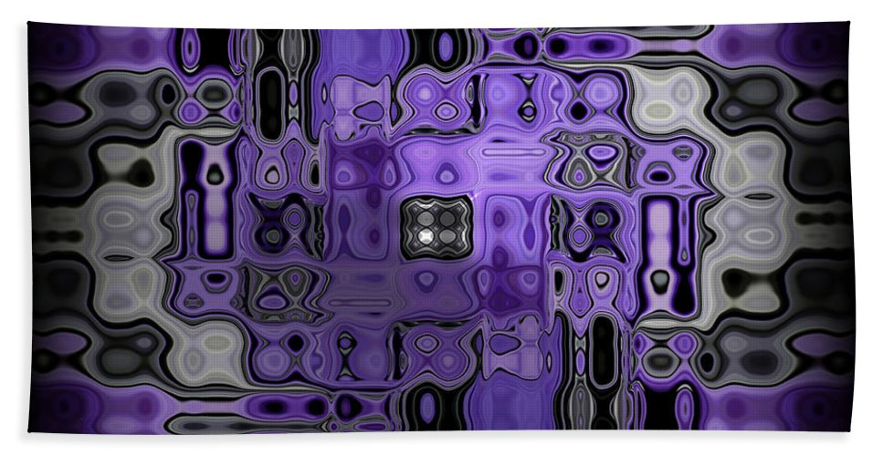 Original Beach Towel featuring the painting Motility Series 22 by J D Owen