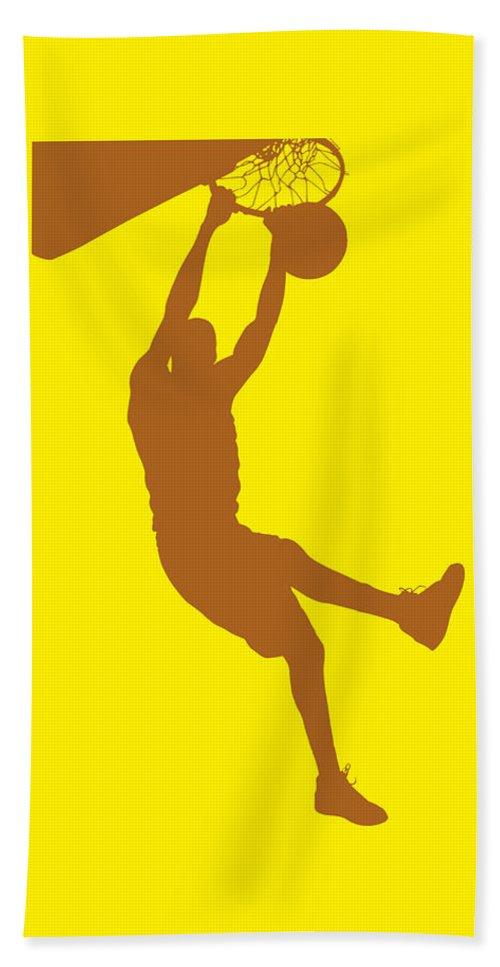 Basketball Beach Towel featuring the photograph Nba Shadow Player by Joe Hamilton