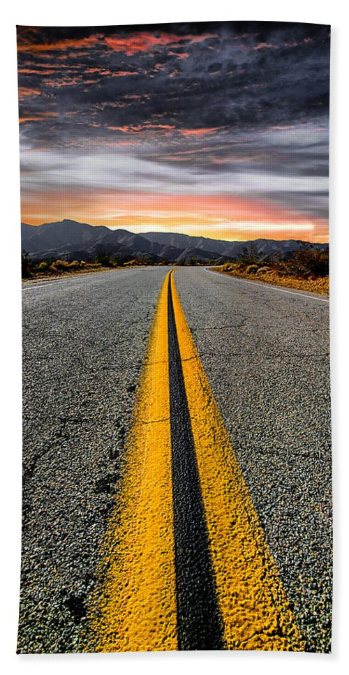 Road Beach Towel featuring the photograph On Our Way by Ryan Weddle