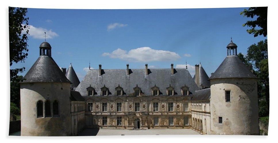 Palace Beach Towel featuring the photograph Palace Bussy Rabutin - Burgundy by Christiane Schulze Art And Photography
