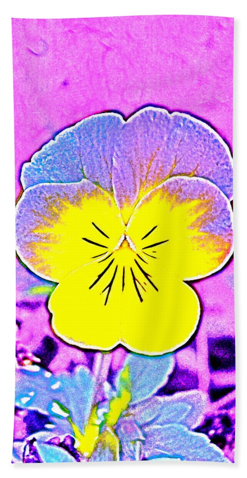 Flower Beach Towel featuring the photograph Pansy 1 by Pamela Cooper