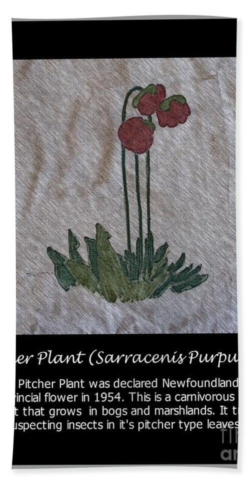 Pitcher Plant Beach Towel featuring the photograph Pitcher Plant by Barbara Griffin