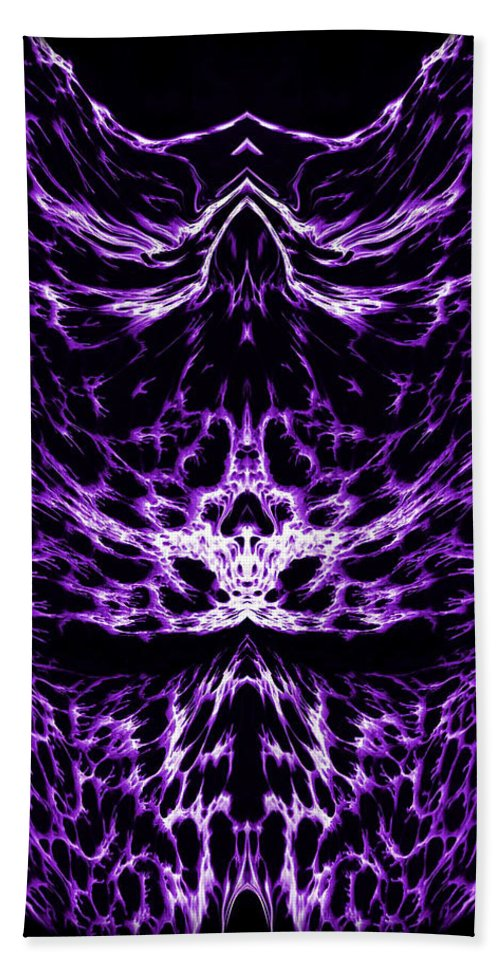 Original Beach Towel featuring the painting Purple Series 6 by J D Owen