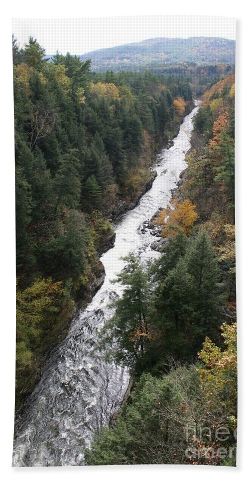 Quechee Gorge Beach Towel featuring the photograph Quechee Gorge by Christiane Schulze Art And Photography