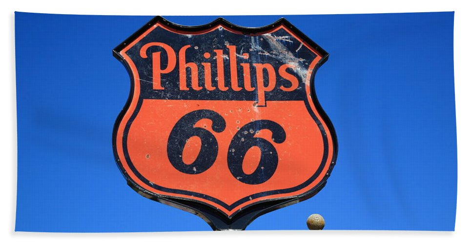 66 Beach Towel featuring the photograph Route 66 - Phillips 66 Petroleum by Frank Romeo