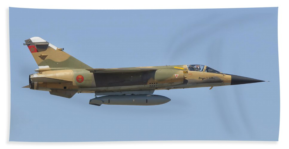 Horizontal Beach Towel featuring the photograph Royal Moroccan Air Force Mirage F1 by Giovanni Colla