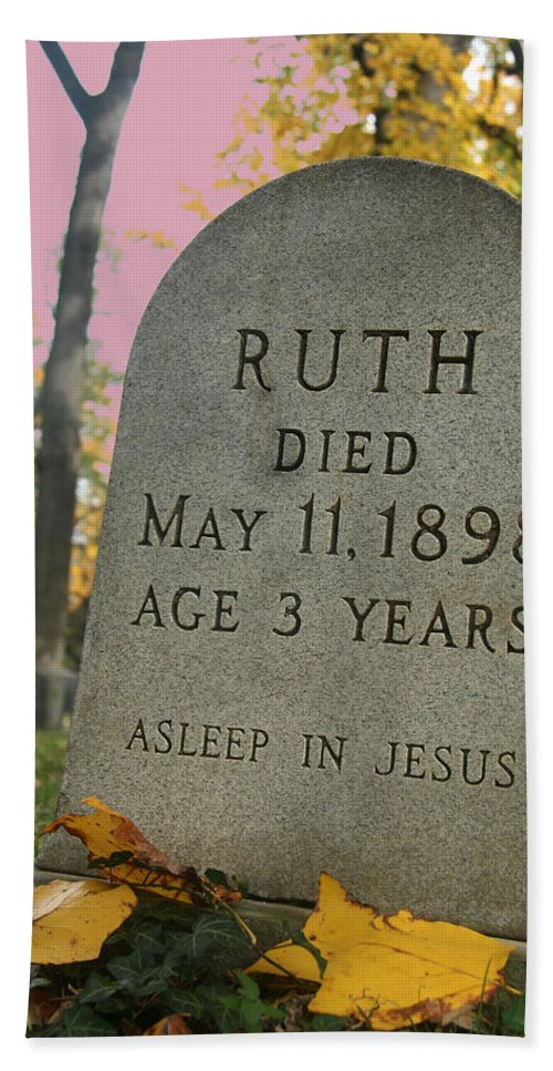 Tombstone Beach Towel featuring the photograph Ruth's Asleep In Jesus by Cora Wandel