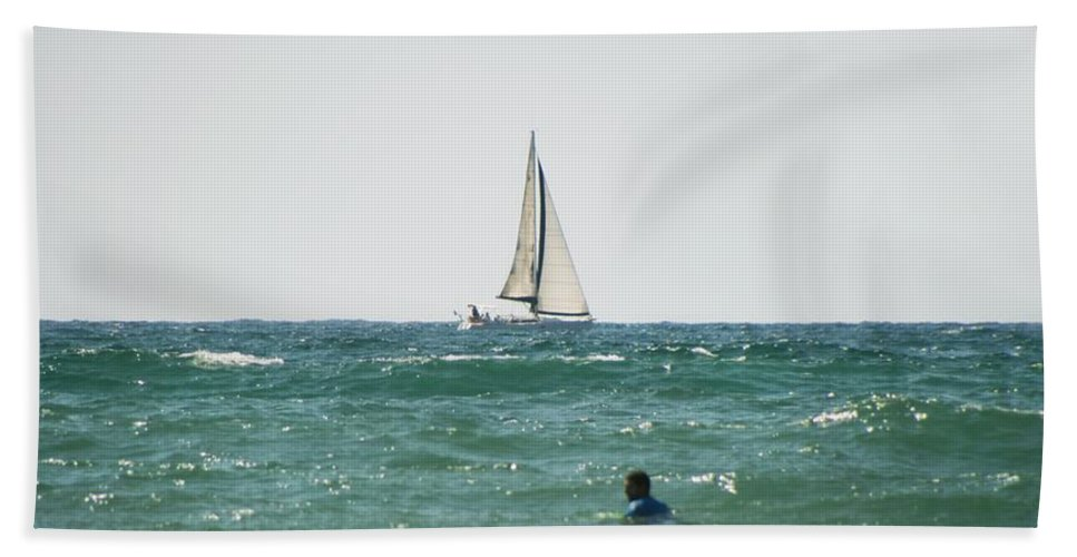 California Beach Towel featuring the photograph Sailing In California by Doc Braham