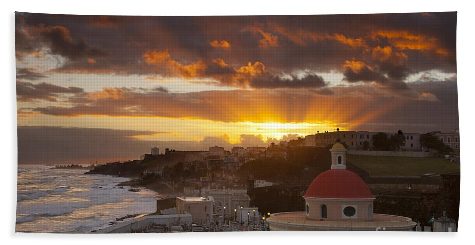 Sunrise Beach Towel featuring the photograph San Juan Sunrise by Brian Jannsen