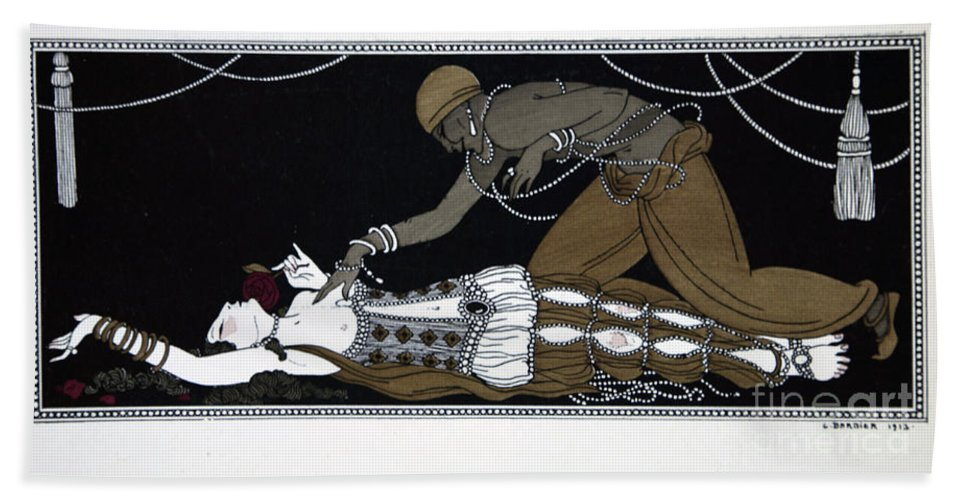 Ballet Beach Towel featuring the painting Scheherazade by Georges Barbier