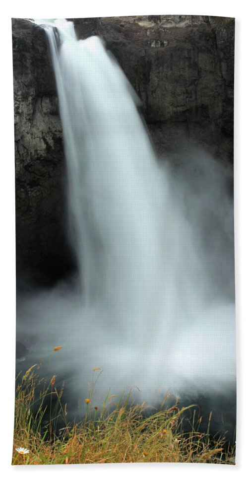 Snoqualmie Falls Beach Towel featuring the photograph Snoqualmie Falls by Kristin Elmquist