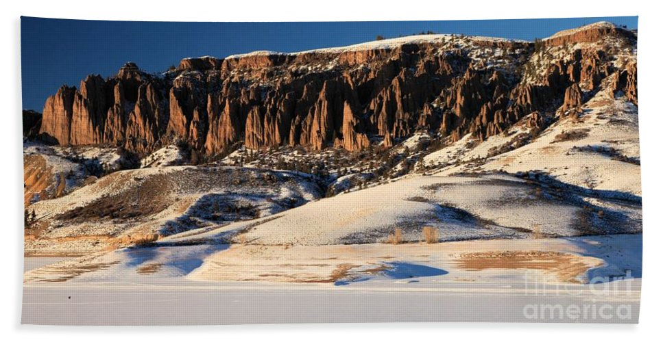 Dillon Pinnacles Beach Towel featuring the photograph Soft Light by Adam Jewell