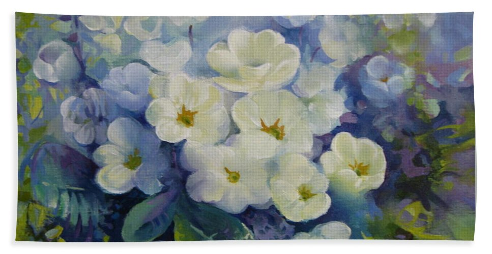 Spring Beach Towel featuring the painting Spring by Elena Oleniuc