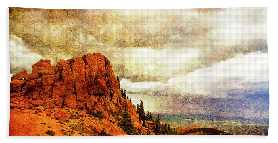 Storm Beach Towel featuring the photograph Standing Against The Storm by Scott Pellegrin