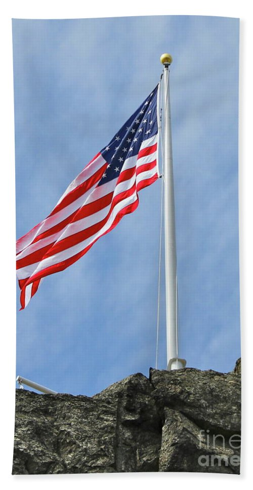 Flag Beach Towel featuring the photograph Strength by Rick Monyahan