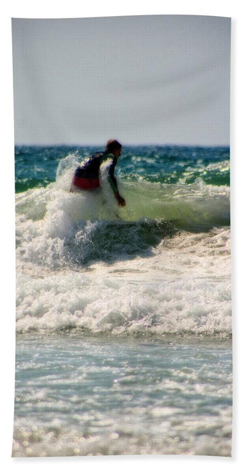 California Beach Towel featuring the photograph Surfing In California by Doc Braham