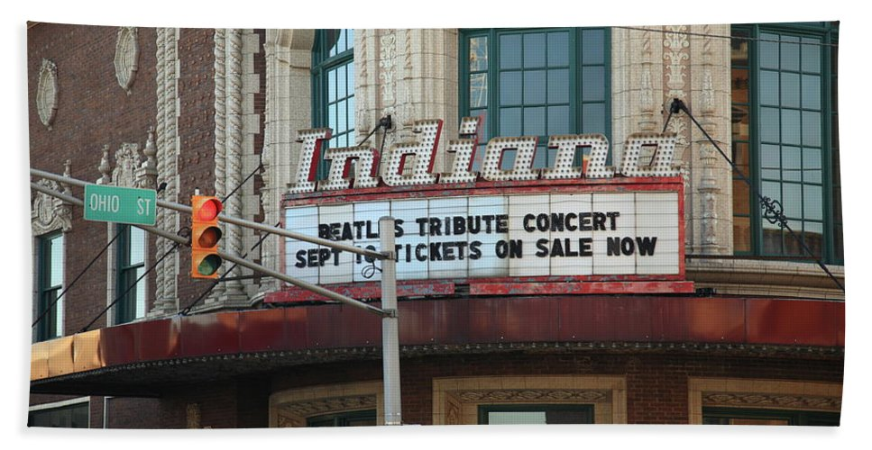 America Beach Towel featuring the photograph Terre Haute - Indiana Theater by Frank Romeo