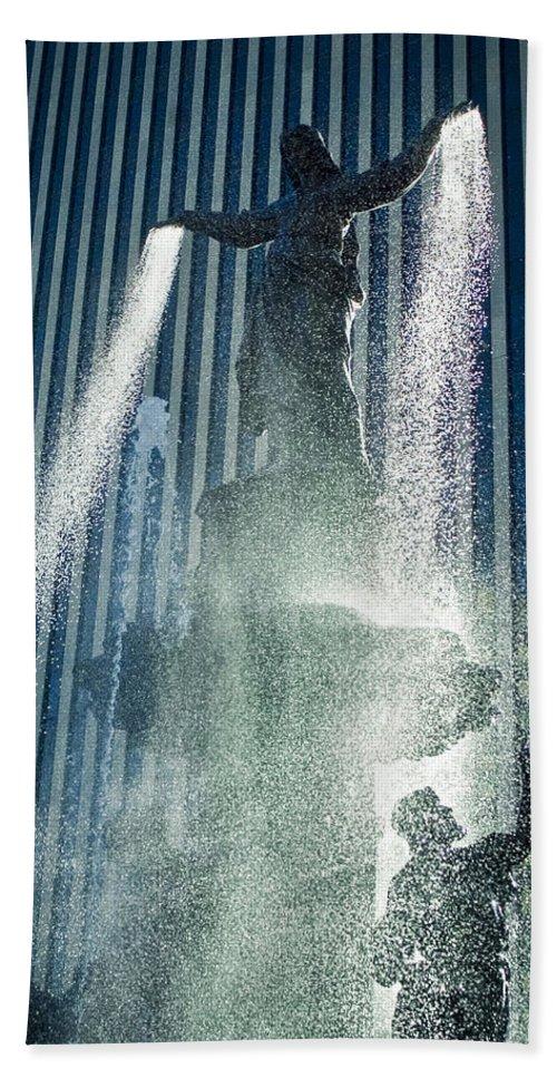 Cincinnati Beach Towel featuring the photograph The Genius Of Water by Scott Meyer