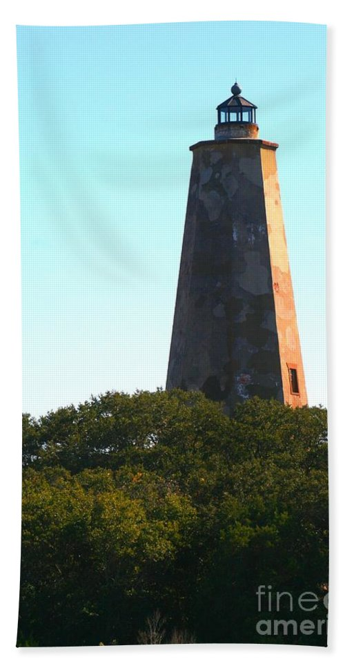 Lighthouse Beach Towel featuring the photograph The Lighthouse by Nadine Rippelmeyer