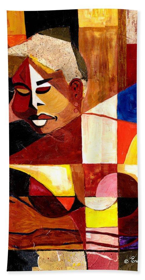 Everett Spruill Beach Towel featuring the painting The Matriarch - Take 2 by Everett Spruill