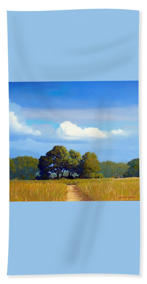 Landscape Beach Towel featuring the painting The Path by Kevin Lawrence Leveque