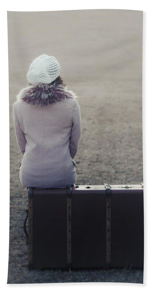 Woman Beach Towel featuring the photograph Waiting by Joana Kruse