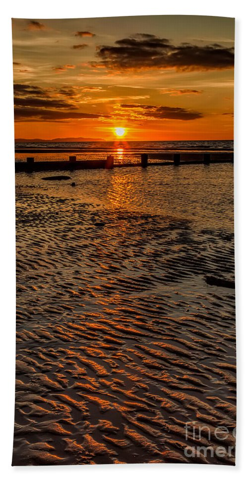British Beach Towel featuring the photograph Welsh Sunset by Adrian Evans
