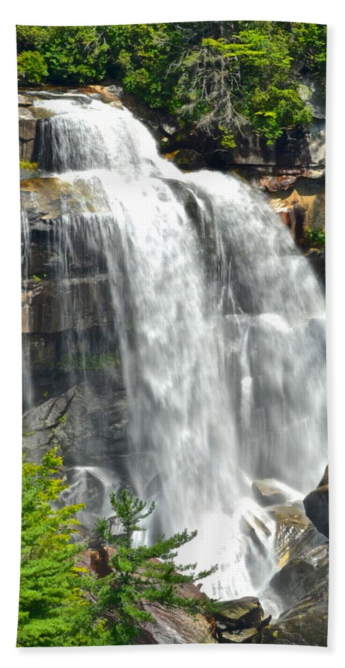 Upper Beach Towel featuring the photograph Whitewater Falls by Frozen in Time Fine Art Photography