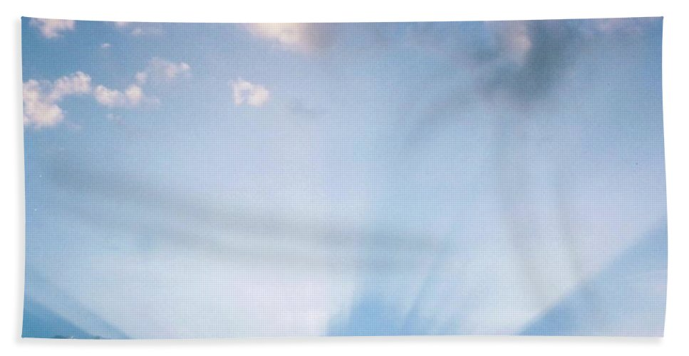 Sunrays Shinning Bright Beach Towel featuring the photograph Sky Scape by Robert Floyd