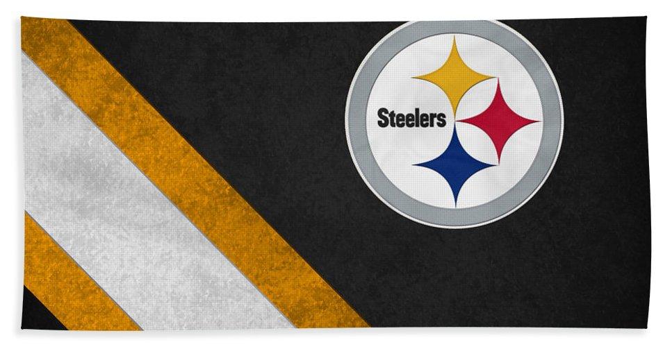 Steelers Beach Towel featuring the photograph Pittsburgh Steelers by Joe Hamilton