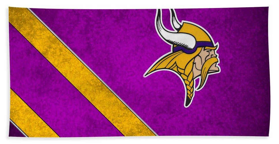 Vikings Beach Towel featuring the photograph Minnesota Vikings by Joe Hamilton