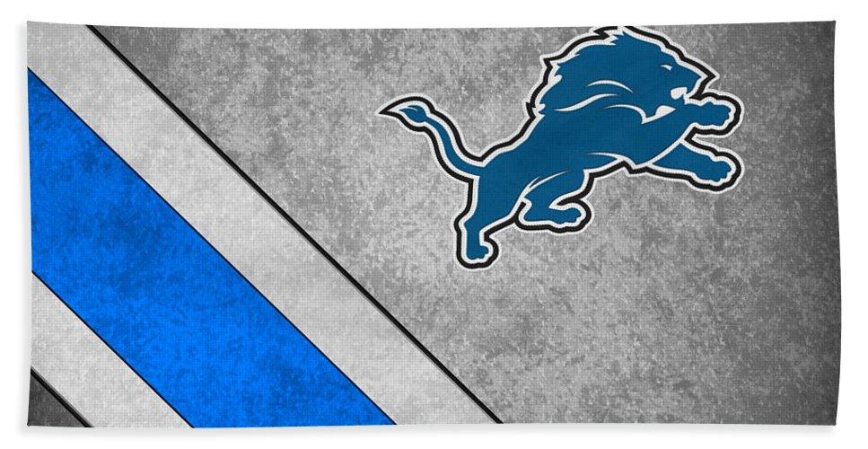 Lions Beach Towel featuring the photograph Detroit Lions by Joe Hamilton