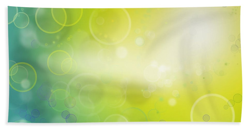 Circles Beach Towel featuring the photograph Abstract Background by Les Cunliffe