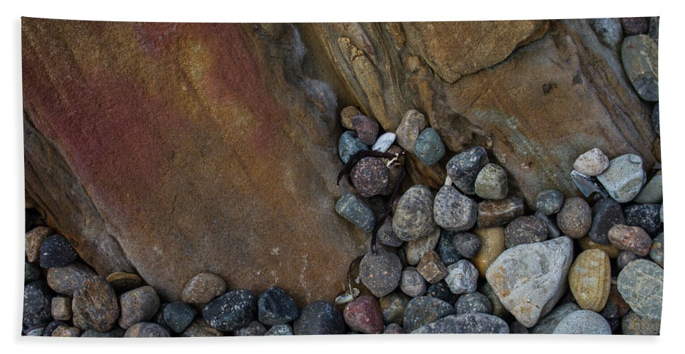 Rock Beach Towel featuring the photograph Art Rock by Dayne Reast