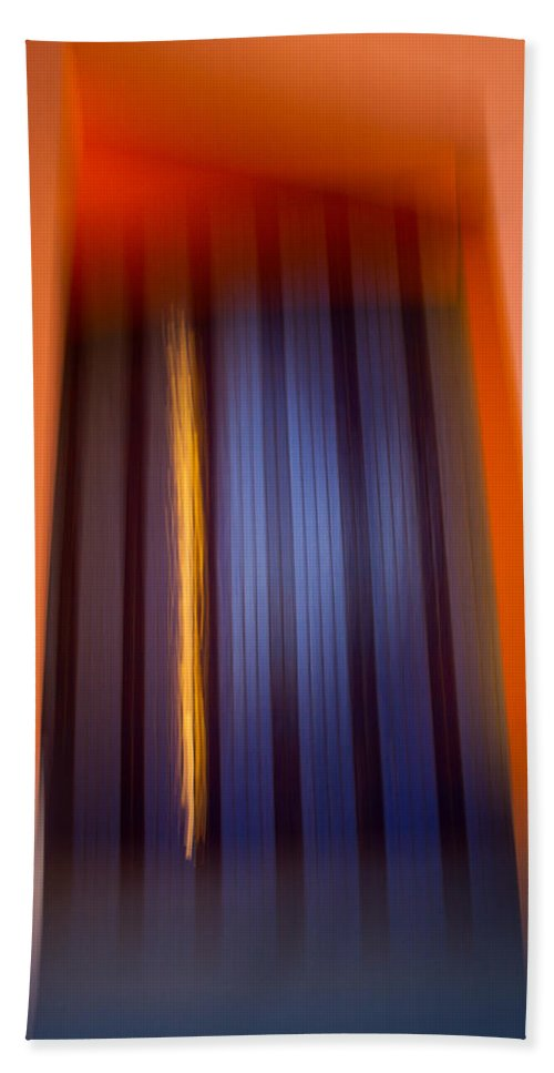 Motion Blur Beach Towel featuring the photograph Blur City by Dayne Reast