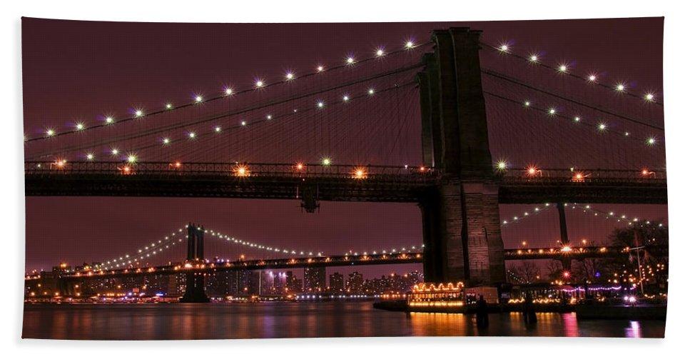 America Beach Towel featuring the photograph Brooklyn Bridge by Svetlana Sewell