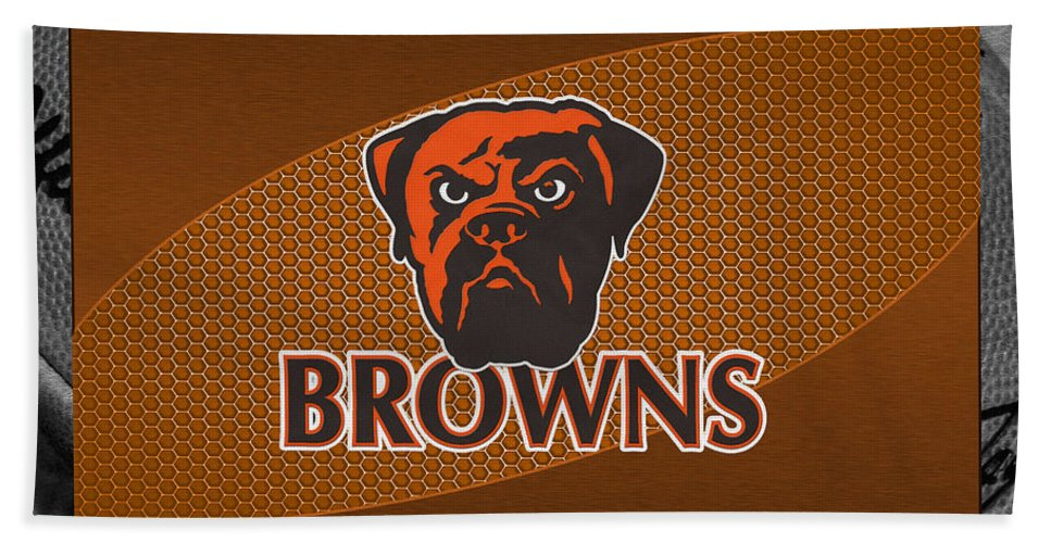 Browns Beach Towel featuring the photograph Cleveland Browns by Joe Hamilton