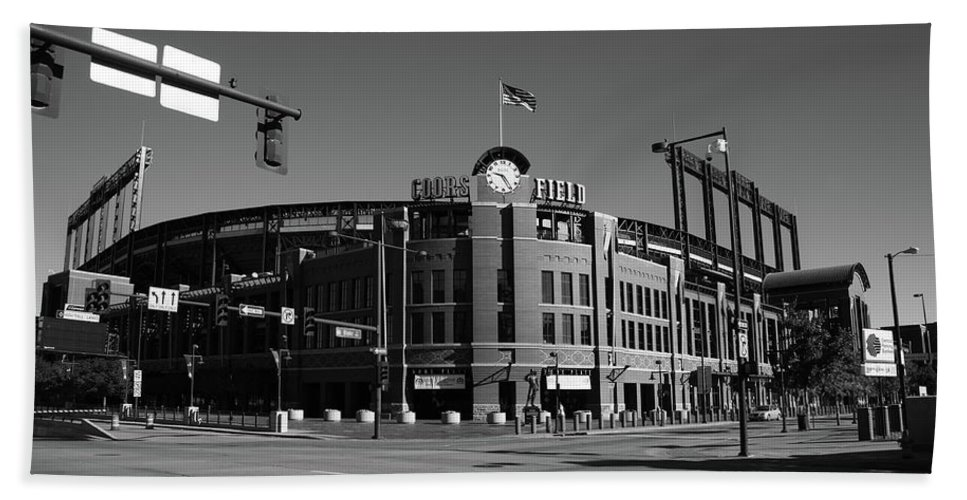 America Beach Towel featuring the photograph Coors Field - Colorado Rockies by Frank Romeo