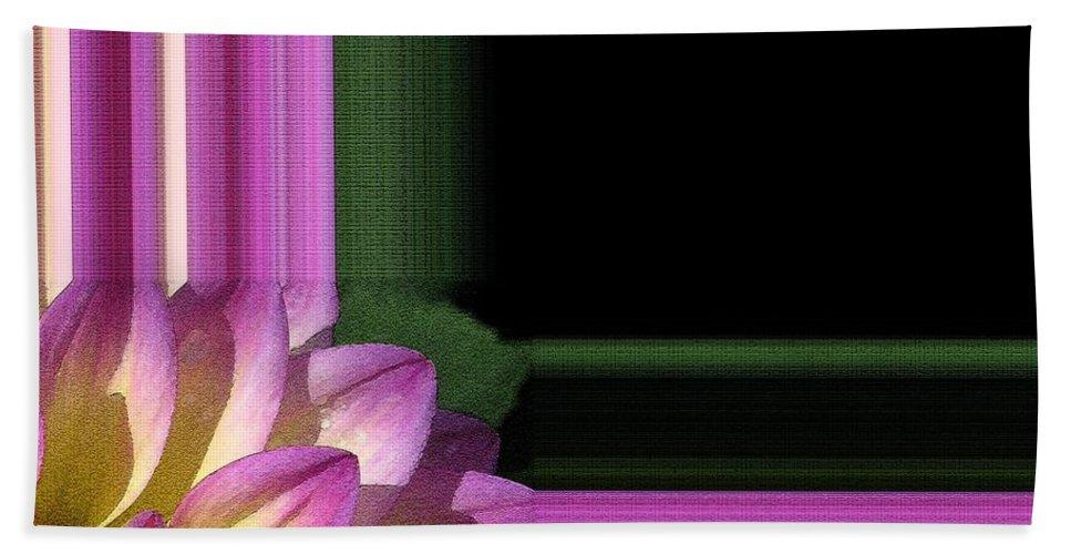 Dahlia Beach Towel featuring the painting Dahlia Named Jowey Gipsy by J McCombie